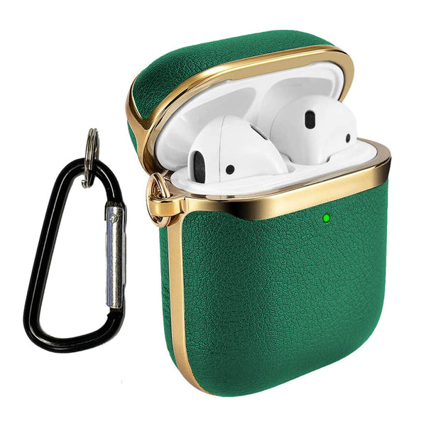 Apple AirPods Genuine Leather Case Tough On Green