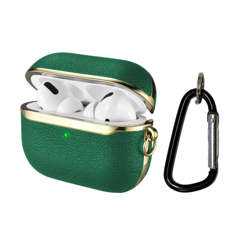 Apple AirPods Pro Genuine Leather Case Tough On Green