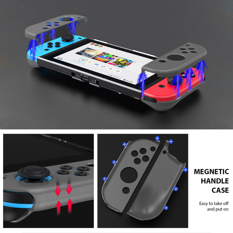 Nintendo Switch Case Handle Magnetic Grey