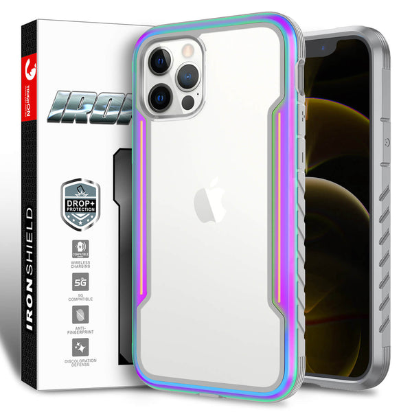 Tough On iPhone 12 Pro Max Case Iron Shield Iridescent