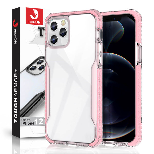 Tough On iPhone 12 Pro Max Case Tough Armor + Pink