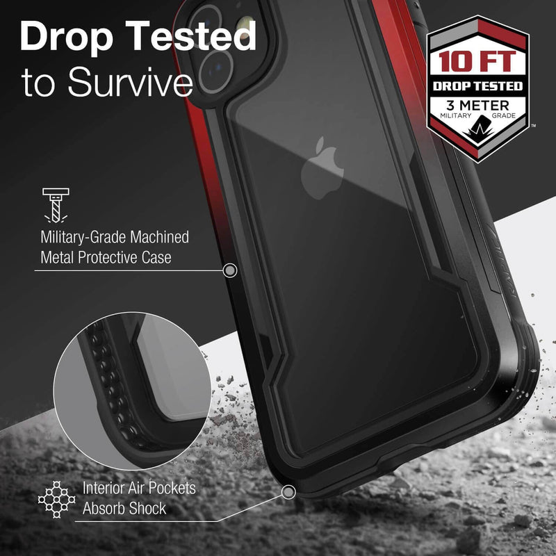 X-doria iPhone 12 Pro Max Case Raptic Shield Black & Red Gradient