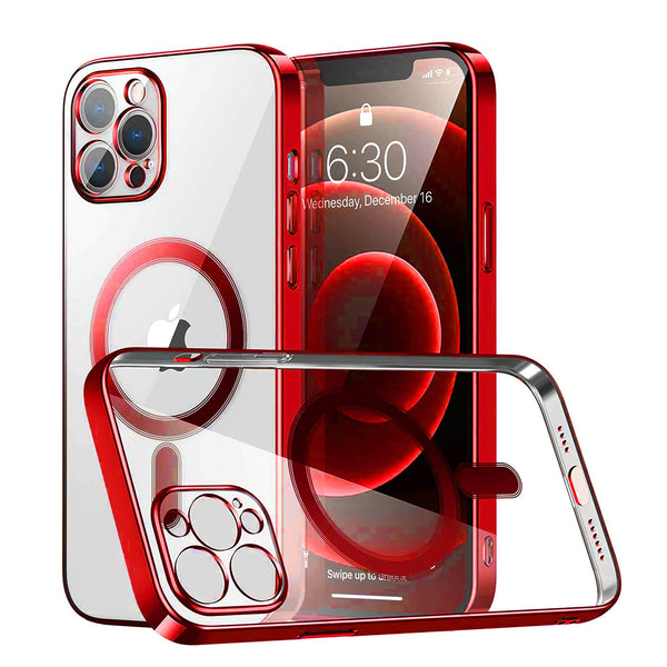 Tough On iPhone 12 Pro Max MagSafe Slim TPU Case Red