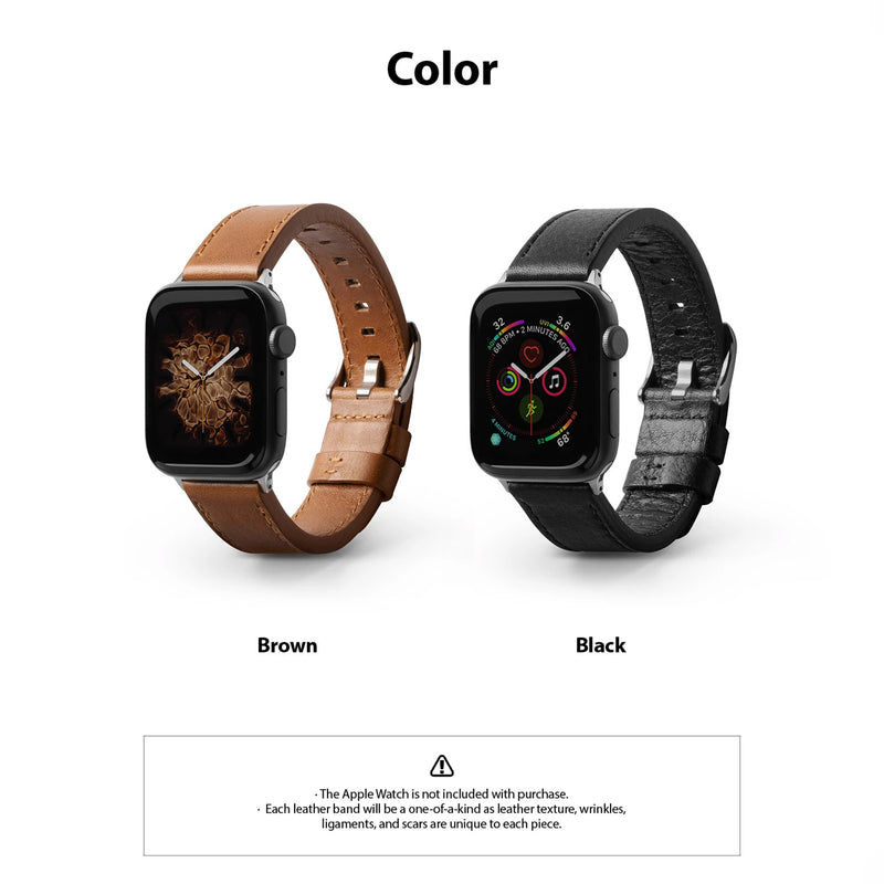 Ringke Apple Watch 44mm / 42mm Leather One Classic Band Brown