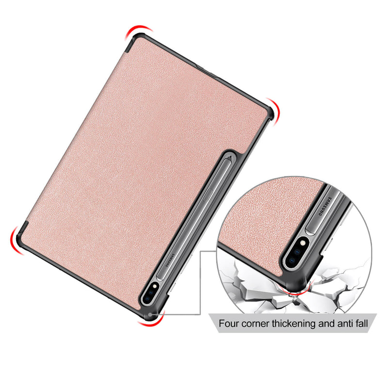 Tough on Samsung Galaxy Tab S7 Case Smart Cover Rose Gold
