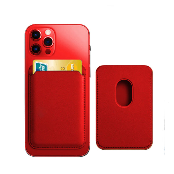 Tough On Magnetic Card Wallet with Magsafe Magnetic for iPhone 12 Red