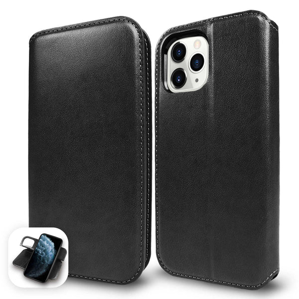iPhone 12 / iPhone 12 Pro Case Tough On Fine Detachable Leather Black
