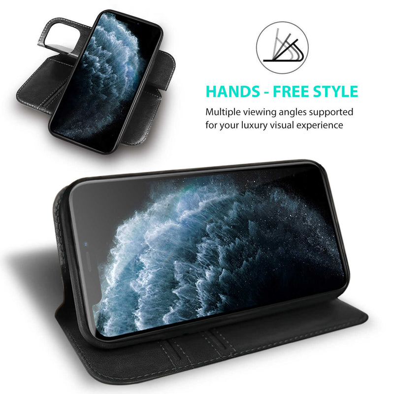 iPhone 12 mini Case Tough On Fine Detachable Leather Black