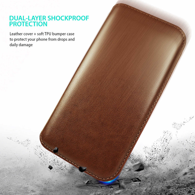 iPhone 12 / iPhone 12 Pro Case Tough On Fine Detachable Leather Brown