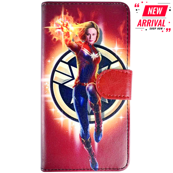 Marvel Captain Marvel Leather Flip Phone Case