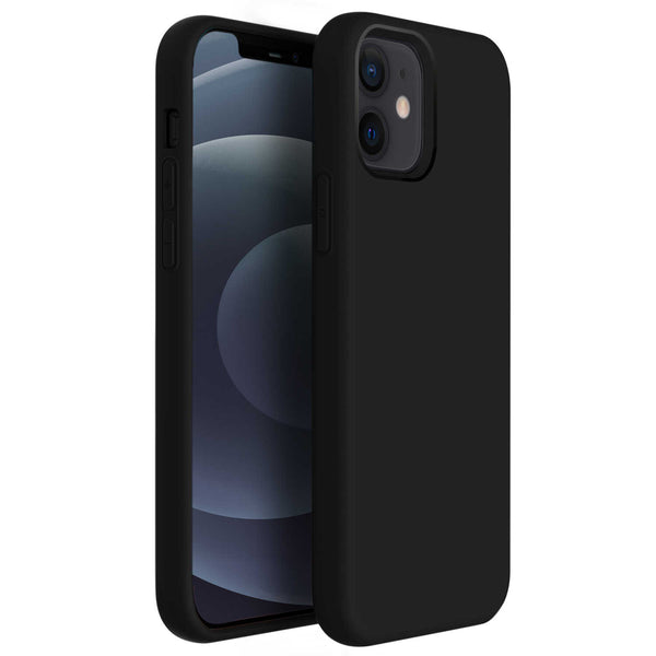 Tough On iPhone 12 Pro Max Case Strong Liquid Silicone Black