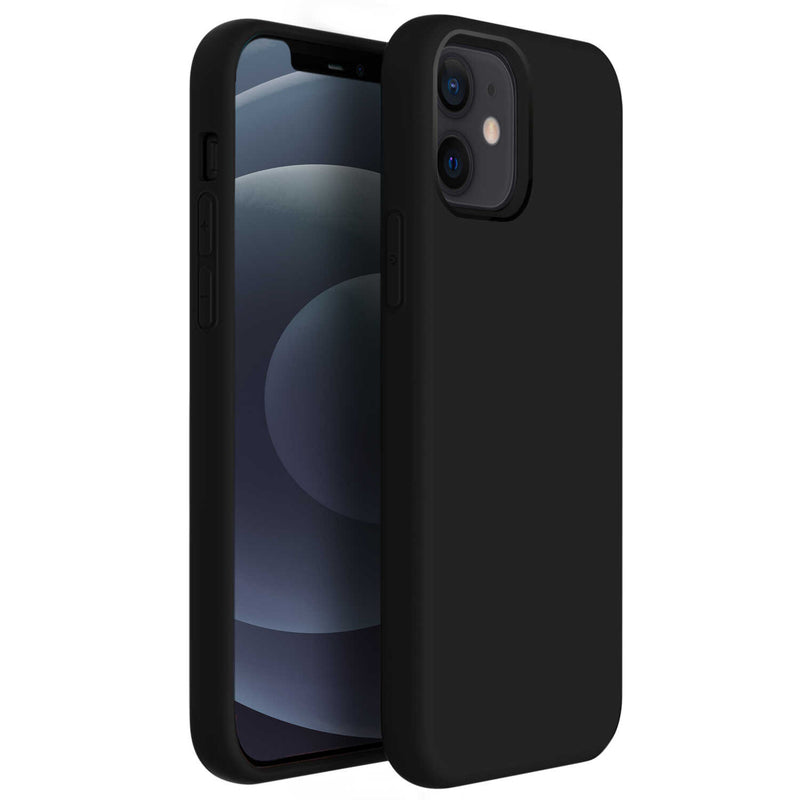 iPhone 12 / iPhone 12 Pro Case Tough On Strong Liquid Silicone Black