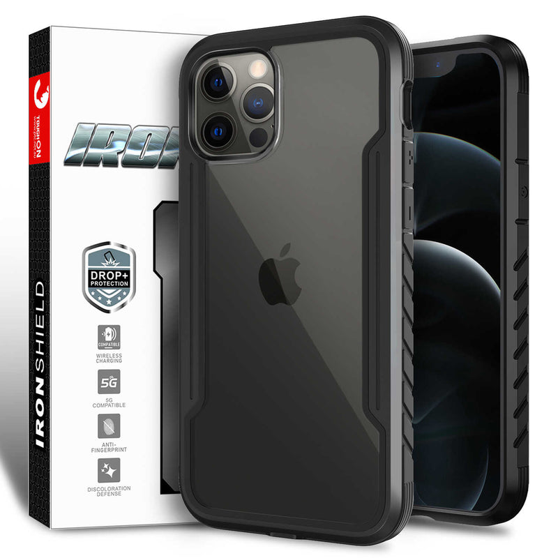 Tough On iPhone 12 Pro Max Case Iron Shield Black