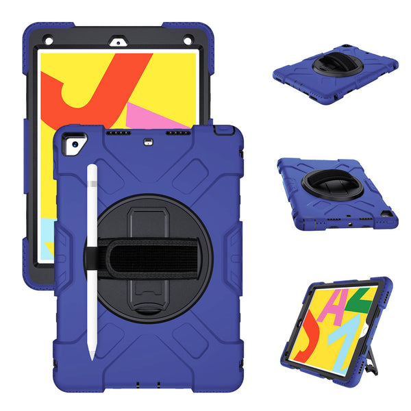 "Tough On iPad 7 & 8th Gen 10.2"" / Air 3 & Pro 10.5"" Case Rugged Protection Blue"