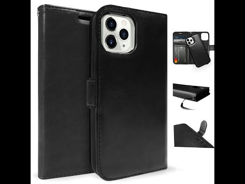 iPhone 12 mini Case Tough On Detachable Leather Black