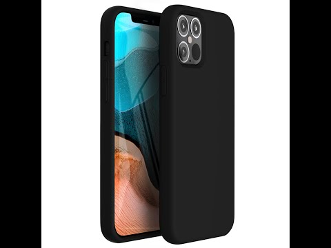 iPhone 12 Pro Max Case Tough On Strong Liquid Silicone Black