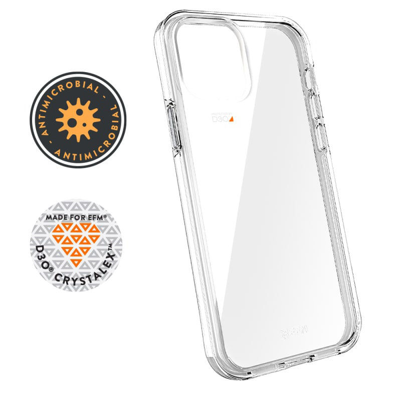 iPhone 12 / iPhone 12 Pro EFM Case Aspen D3O Crystalex Armour Crystal Clear
