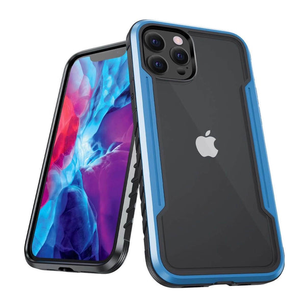 iPhone 12 mini Case Tough On Iron Shield Blue