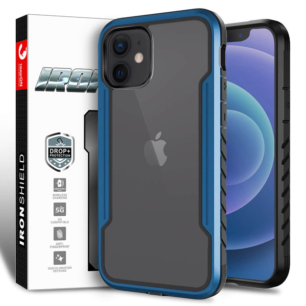 Tough On iPhone 12 mini Case Iron Shield Blue