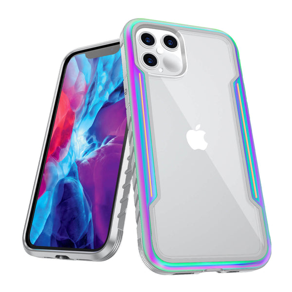 iPhone 12 Pro Max Case Tough On Iron Shield Iridescent
