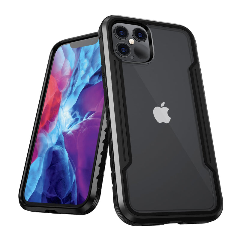 iPhone 12 / iPhone 12 Pro Case Tough On Iron Shield Black