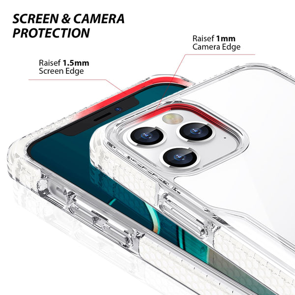 iPhone 12 / iPhone 12 Pro Case Tough On Tough Armor + Clear & White