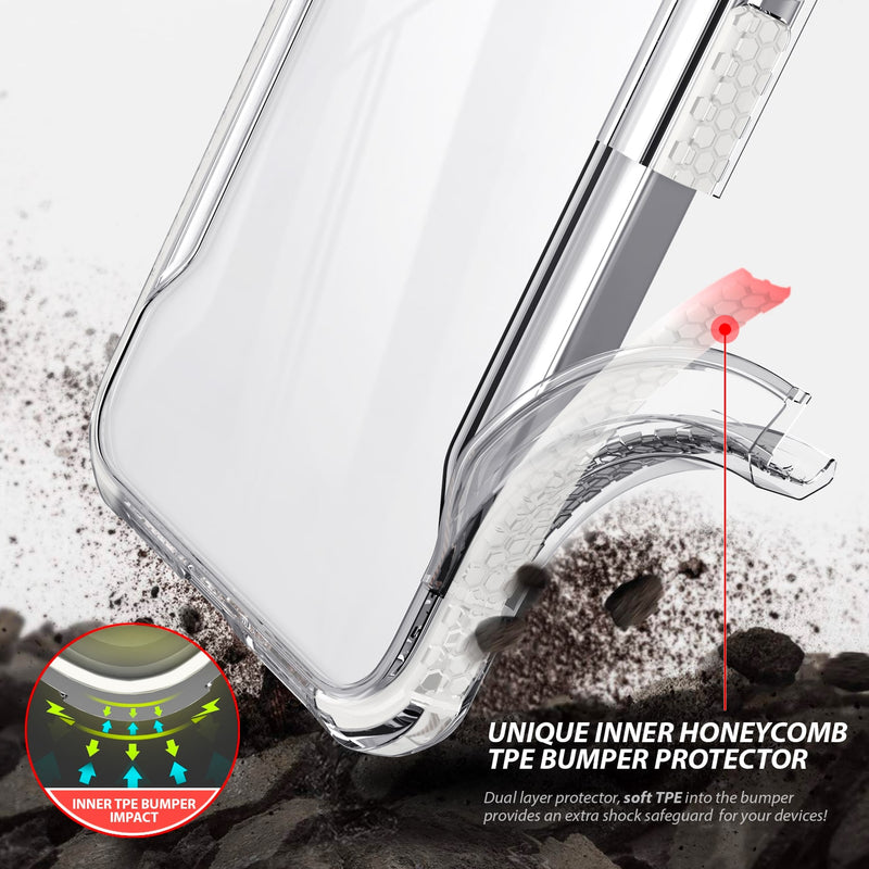 Tough On iPhone 12 Pro Max Case Tough Armor + Clear & White