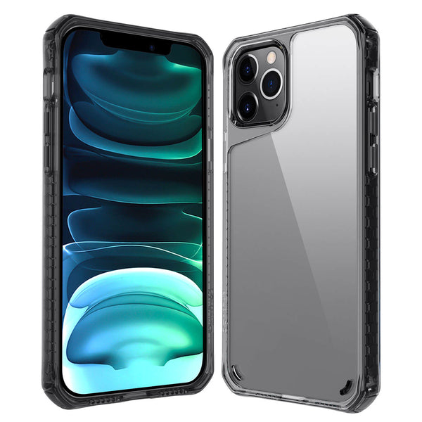 Tough On iPhone 12 Pro Max Case Tough Air Smoke Black