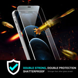 Tough On iPhone 12 mini Tempered Glass Screen Protector DoubleStrong Clear