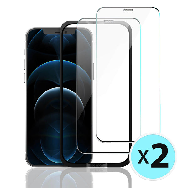 iPhone 12 / iPhone 12 Pro Tempered Glass Screen Protector Tough On 2 Pack