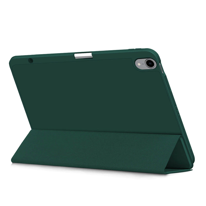 Tough On iPad Air 4 10.9 inch Case YW Smart Soft Dark-Green
