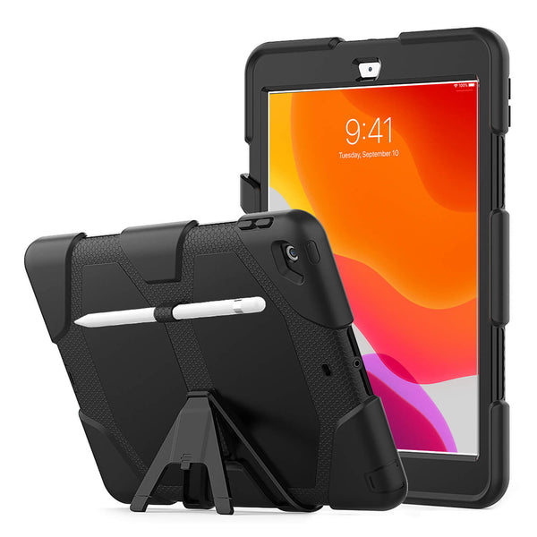 Tough On iPad 8 & 7th Gen 10.2 inch Case Heavy Duty Black