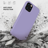 iPhone 12 Pro Max Case Tough On Strong Liquid Silicone Purple
