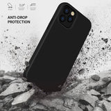 Tough On iPhone 12 mini Case Strong Liquid Silicone Black