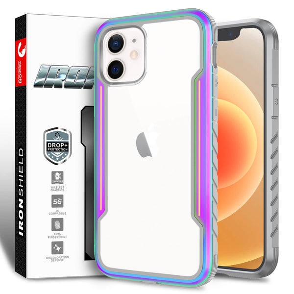Tough On iPhone 12 mini Case Iron Shield Iridescent