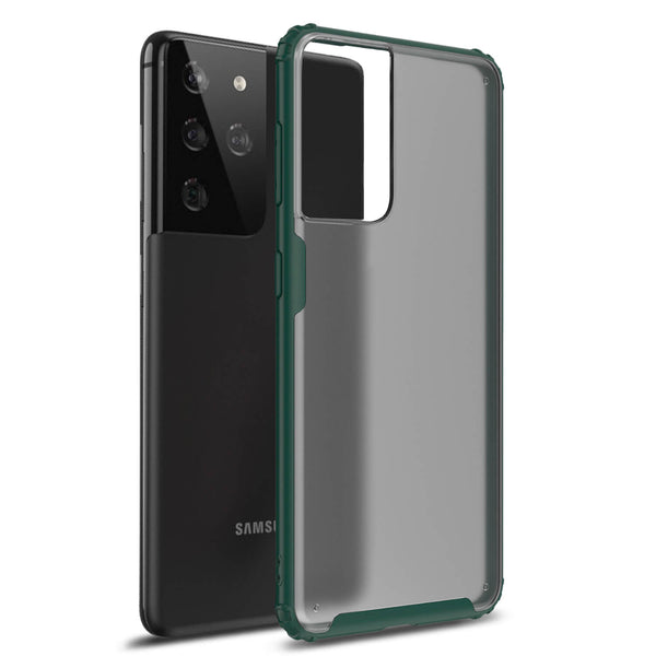 Copy of Tough On Samsung Galaxy S21 Ultra 5G Case Matte Clear Dark Green
