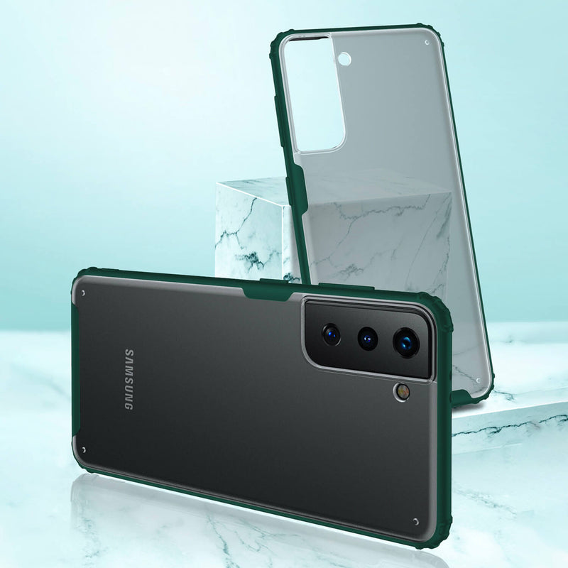 Tough On Samsung Galaxy S21 Ultra 5G Case Matte Clear Dark Green