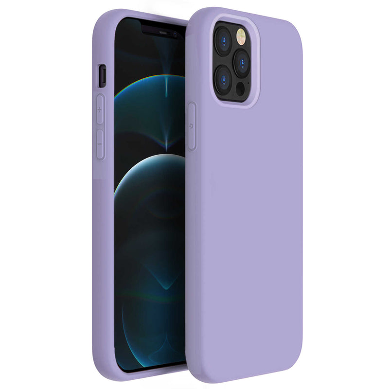 Tough On iPhone 12 Pro Max Case Strong Liquid Silicone Purple