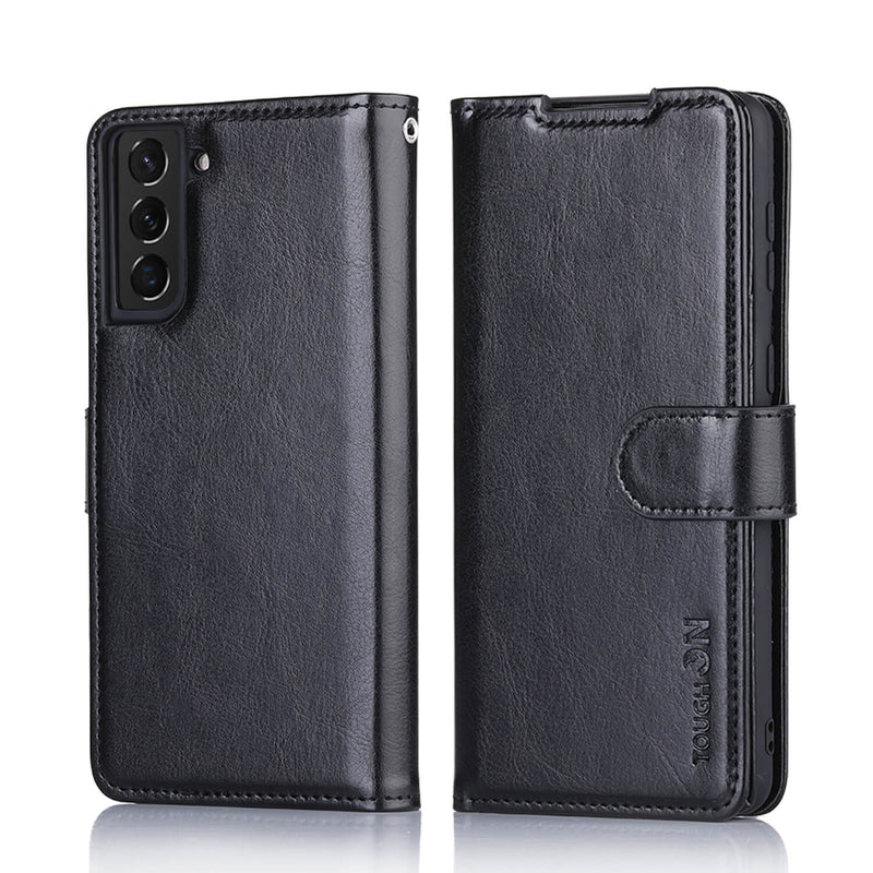 Tough On Samsung Galaxy S21 Plus Leather Case Black
