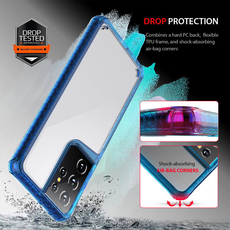 Tough On Samsung Galaxy S21 Ultra Case Tough Air Blue