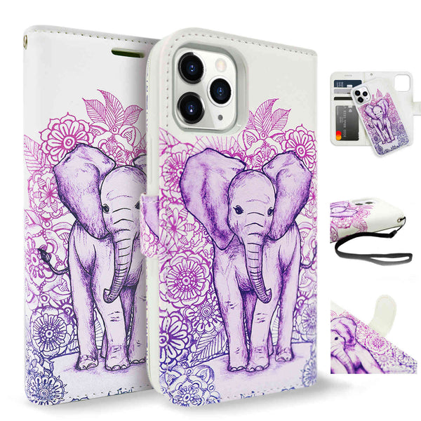 Tough On iPhone 12 mini Case Detachable Leather Elephant