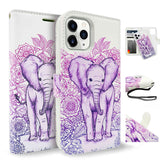 Tough On iPhone 12 Pro Case Detachable Leather Elephant