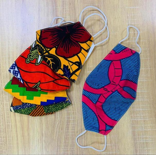 Making your own Ankara print face mask at home