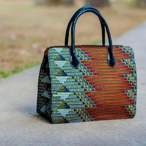 Image of Tema Ankara Print Hand Bag - Afroish