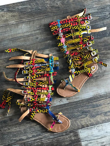 PoquaaGh Ohemaa African prints Sandals - Afroish