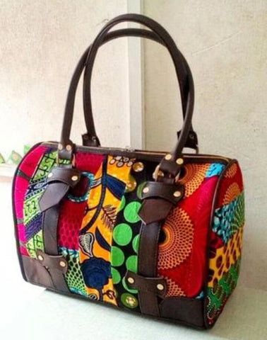 Kinshasa Ankara Prints Duffle Bag - Afroish
