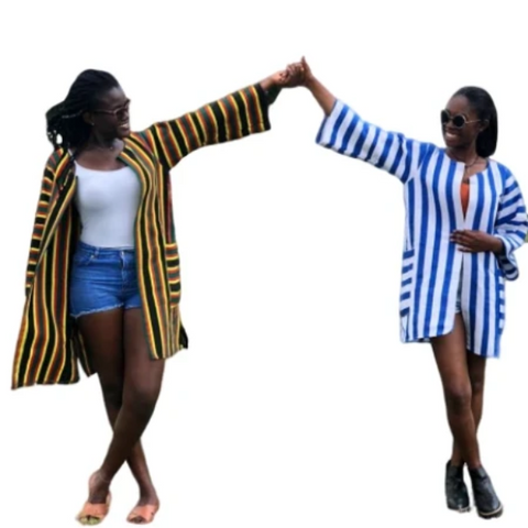 Image of Bolga Northern Kente Kimono - Afroish