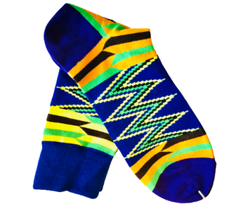 Densu Kente Inspired Cotton Socks - Afroish