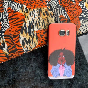 Negril Afro Cartoon Samsung Case - Afroish