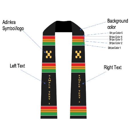 Image of Gye Nyame Traditional Kente Stole - Afroish